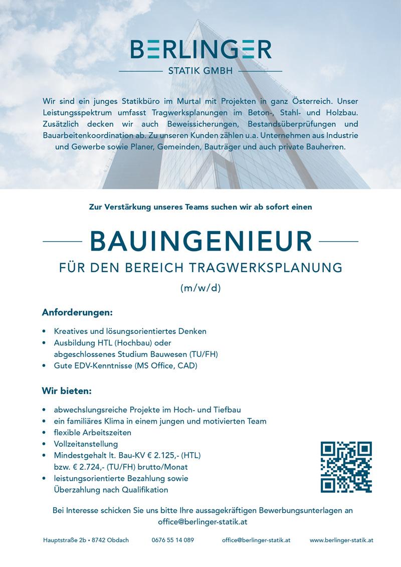 Berlinger Jobinserat